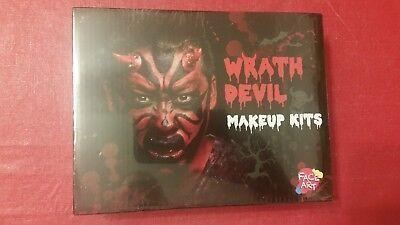 NEW Halloween WRATH DEVIL Makeup Prosthesis Kit by Face - Halloween Makeup Devil