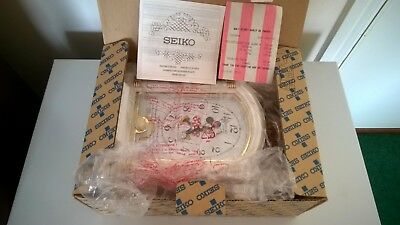 Rare Vintage Walt Disney Minnie Mouse Seiko Quartz Musical Clock NEW