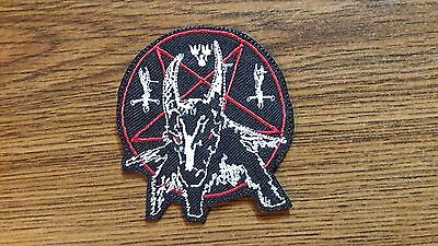 BATHORY LOGO,IRON ON WHITE AND RED EMBROIDERED PATCH