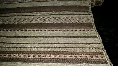 Gold/Brown/Taupe Mike stripe chenille upholstery fabric 53