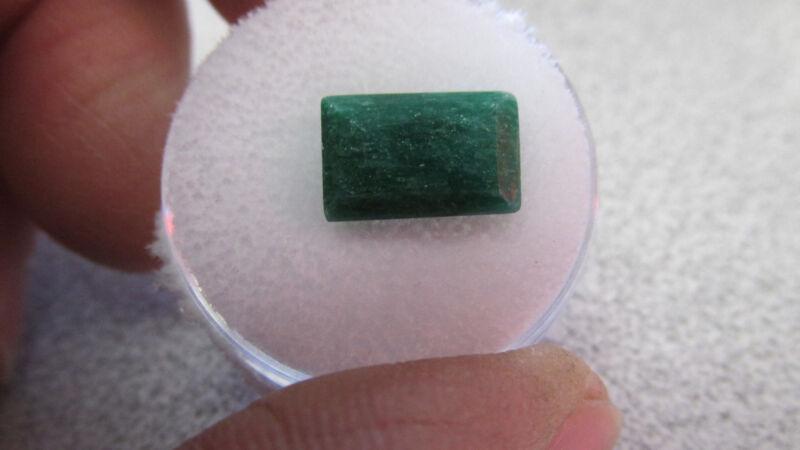 5.66  Carat  Gem  Emerald  Natural Faceted Gemstone  Appraised at  $1500.00