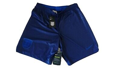 Mens England Blue Football Shorts Nike Adults Medium New With Tags