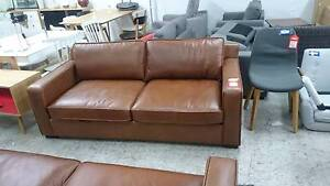 BAROSSA 2.5 SEATER LEATHER SOFA - FACTORY 2nd - HIGH END RETAILER Richmond Yarra Area Preview