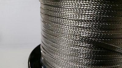 On Reel 50 Feet Of Flat Braided Tinned Copper Wire 316 Wide Ground Strap Usa
