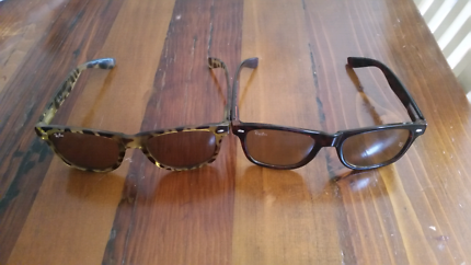 e5719f377d 2x Rare Authentic Leopard Print RayBan Sunglasses