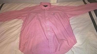 Hemd Wit Roze Ralph Lauren voor heren maat Large