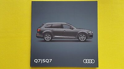 Audi Q7 & SQ7 SE S Line e-Tron quattro brochure catalogue June 2017 MINT S Q 7