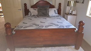 Solid Timber King Size Bed Frame & Mattress Albany Creek Brisbane North East Preview