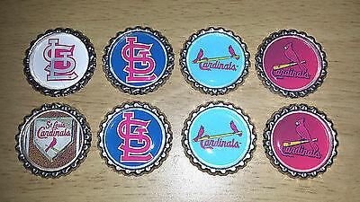 'SET OF 8' ST LOUIS CARDINALS Flat Bottlecaps for hairhows, (Baseball Mlb Bottle Caps)