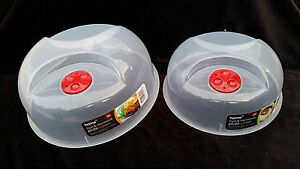 New Ventilated Plastic Microwave Food Plate Dish Cover 2