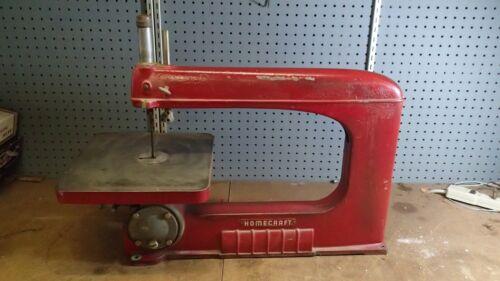 Vintage Antique HOMECRAFT-DELTA 16″ SCROLL JIG SAW Cast Iron Made