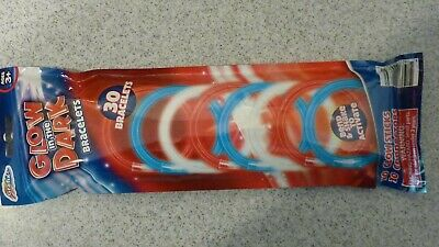 4th of July-Glow in the Dark Bracelets-30 pack-Red White and Blue](Red Glow Bracelets)