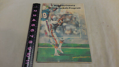 WINSTON COUNTY YELLOW JACKETS Football Game Program 1983