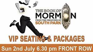 BOOK OF MORMON FRONT ROW VIP PACKAGE SUN 2ND JULY Melbourne CBD Melbourne City Preview