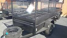 7x5 heavy duty high side box section trailer with cage Fyshwick South Canberra Preview