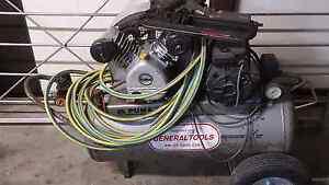 2.2 hp puma compressor senco framing gun an hose Wynnum West Brisbane South East Preview