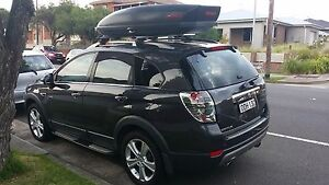 Yakima Skybox 16 450L + Thule wing bar and railing footpack Arncliffe Rockdale Area Preview