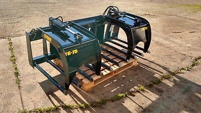 New 68 Manure Tine Grapple. Silage Rake. Hd Fits Skid Steer Tractor Bobcat