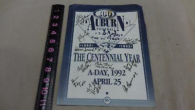 1992 Auburn Football A Day Program WITH SIGNATURES