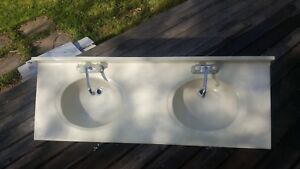 Double Sink Including Countertop  and 2 Faucets *NEED GONE ASAP
