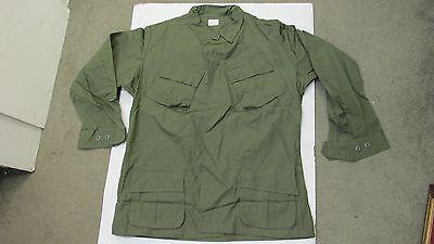 US Vietnam Era Jungle Jacket Shirt Ripstop Poplin 1969 Large Long OG 107 NOS