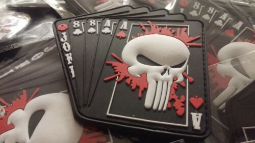 ACES OF SPADE  SCULL 3D PVC PATCH