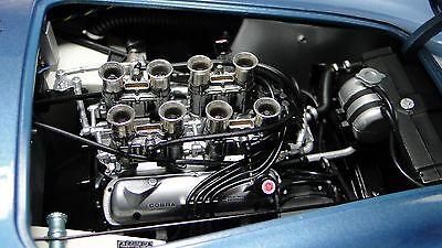 Ford 1963 Shelby GT AC Cobra Race Sport Car Blue w/ V8 Engine & Vintage Wheels