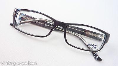 Inlook schwarze Fassung Marken-Brille Kunststoffrahmen eckig günstig Grösse M