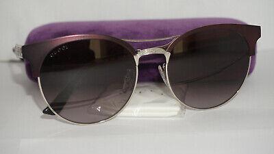 GUCCI New Sunglasses Burgundy Palladium Grey Gradient GG0075S 004 56 18 145
