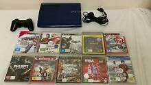 PlayStation 3 500GB Slim blue Console+1 Controllers+ 10 Games ps3 Holden Hill Tea Tree Gully Area Preview