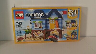 Lego Creator 31063 BEACHSIDE VACATION Minifigures 3 in 1 275 pcs Factory Sealed