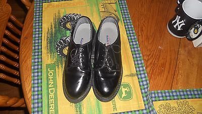 CAPPS Air Lite Footwear Black Shiney Patent Lace Oxford Shoes Womens 6 1/2 -