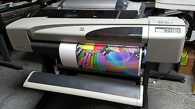 """HP DESIGNJET 500PS PLOTTER 42"""" Stand,NEW Set of INK &Printheads 1-year WARRANTY"""