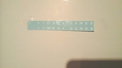 LIONEL LINES 2466WX-6466W WHISTLE TENDER WHITE LETTER WATER DECALS 2 P/SET LOOK!