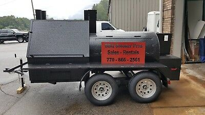 Double Grills Mini T Rex Rotisserie Bbq Smoker Cooker Trailer Mobile Food Truck