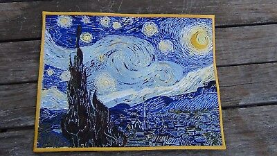 The Starry night patch Vincent Van Gogh patch Giant 8 1/2 x 11 inch  embroidery