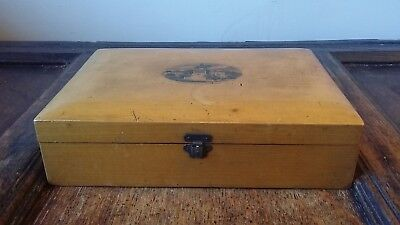 1880'S LARGE MAUCHLINWARE BOX ALBERT MEMORIAL EDINBURGH - DICKINSON NOTTINGHAM
