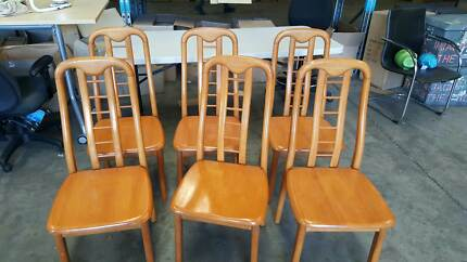 ALL 6 WOODEN CHAIRS home study reception business kitchen Murarrie Brisbane South East Preview
