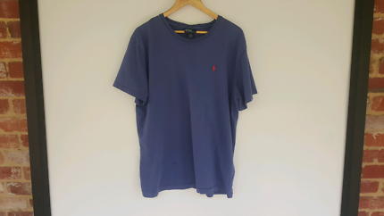 Ralph Lauren Blue T Shrit L Regular Authentic FREE POSTAGE