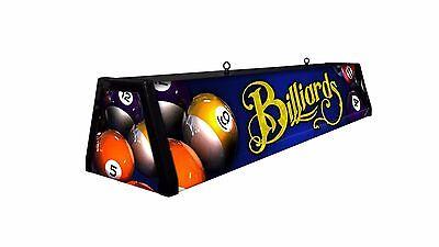 BLUE BILLIARDS, Backlit Pool Table Light Billiards Lamp, Billiard Table Light