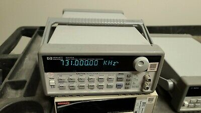 Hp Agilent 33120a 15 Mhz Function Arbitrary Waveform Generator With Case