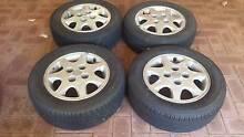 S13 4x114.3 rims with 3 legal tyres 1 bald 225 / 60 / R15 Mundaring Mundaring Area Preview