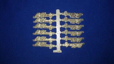 12 Mi Bautizo decoration favor - Gold/ Oro  Baptism (Baptism Decor)