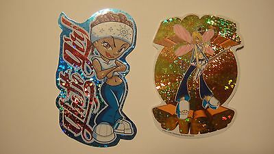 Lot(2) ROCK STAR Fairy GHETTO GIRL Hip Hop Vending Machine Brand Imports Sticker