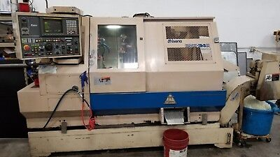 Miyano Bne-34s Cnc Lathe Live Tools Sub Spindle Twin Turret Chip Conveyor