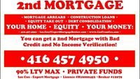 EQUITY LENDING! 2nd Mortgages and Construction Loans!