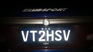 hsv clubsport number plate  VT2HSV Collingwood Yarra Area Preview