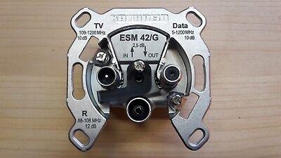 Kathrein ESM 42/G Multimediadose Antennendose Durchgangsdose 10dB Kabel-TV neu (Kein Kabel-tv)
