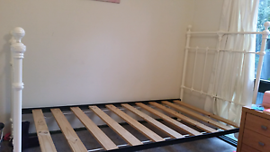 Cast Iron King Single Bed Frame Cream Ringwood North Maroondah Area Preview