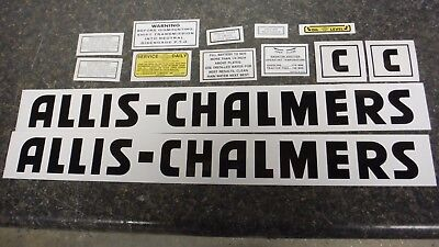 Allis Chalmers Model C Decal Set. All Decals On Tractor. See Details Pics.